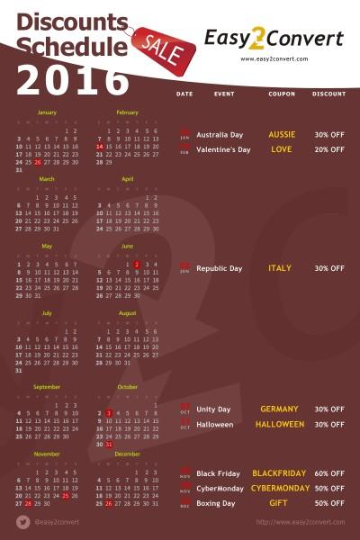 Календарь Скидок 2016