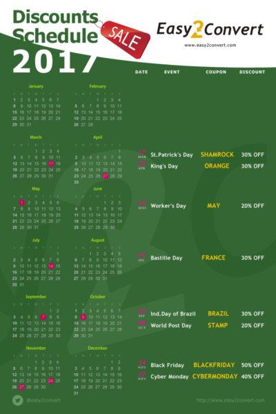 календарь скидок 2017