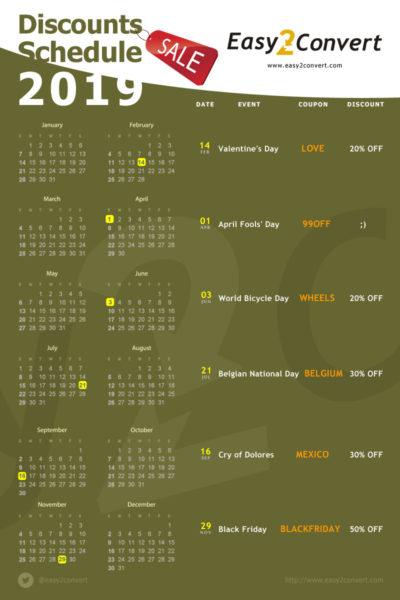 календарь скидок на 2019 год