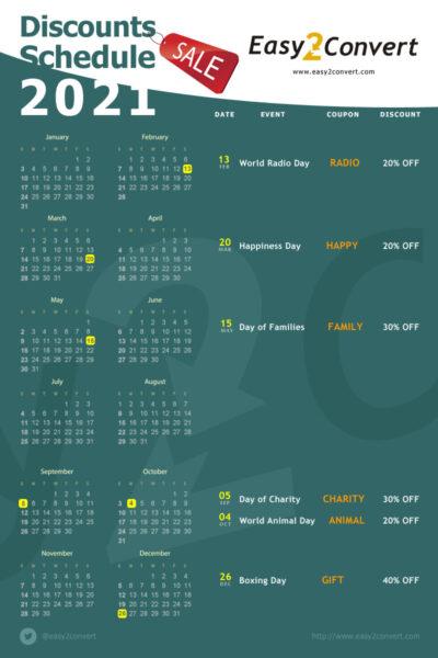 календарь скидок на 2021 год