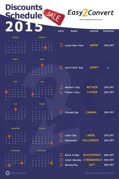 Календарь скидок 2015